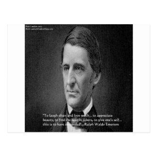 Ralph Waldo Emerson Success Wisdom Quote Gifts Postcard