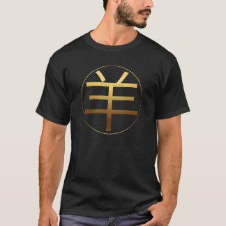 Ram Sheep Goat Year Gold embossed effect Symbol T T-Shirt