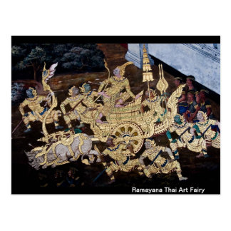 Ramayana Thai Art Fairy Postcard