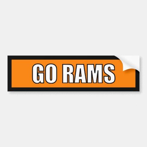 Rams - Black Orange White Bumper Stickers