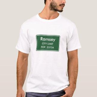 Ramsey Minnesota City Limit Sign T-Shirt