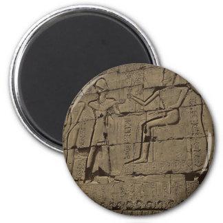 Ramusseum. Egypt circa 1867 Magnet