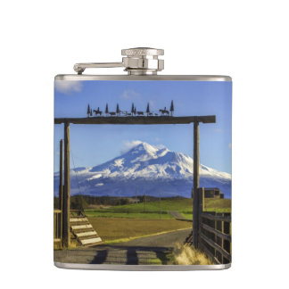 RANCH VIEW OF SHASTA HIP FLASK