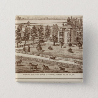 Ranches, Hanford, Cal 15 Cm Square Badge