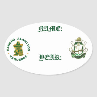Rancho Alamitos Reunion Name Stickers