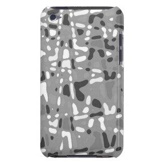 Randon black and gray design, iPod hard shell case