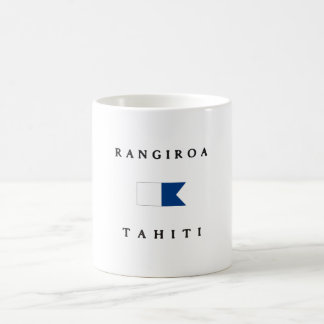 Rangiroa Tahiti Alpha Dive Flag Coffee Mug
