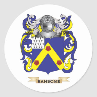 Ransome Coat of Arms (Family Crest) Round Sticker