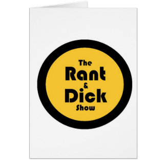 rant and dick: Gold and Black Logo Card