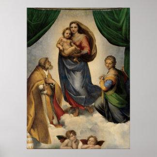 Raphael - The Sistine Madonna Poster