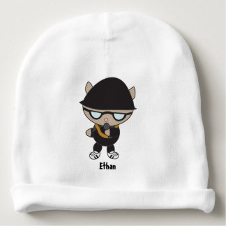 Rapper Cat in Bell Hat Baby Beanie