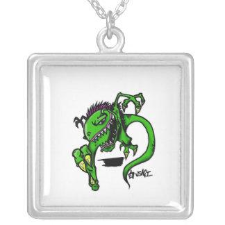 Raptor Square Pendant Necklace