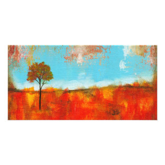 Rapture Abstract Landscape Tree Art Painting Photo Card Template