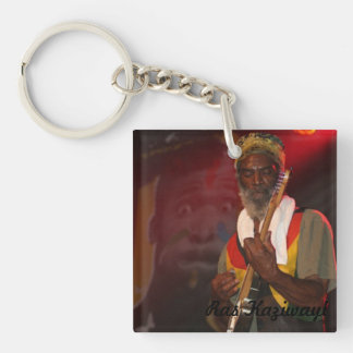 Ras Kaziwayi - In the Groove Double-Sided Square Acrylic Key Ring