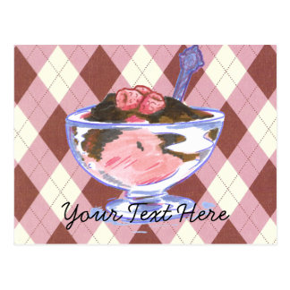 Raspberry Icecream Postcard