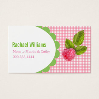 Raspberry Mommy Play Date Card