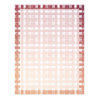 Raspberry Pink Blush Modern Plaid Netted Ombra Flyer