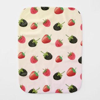 Raspberry, Strawberry, Blackberry: summer fruit Burp Cloth