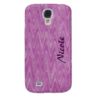Raspberry Zigzag - Pink Abstract Pern Galaxy S4 Case