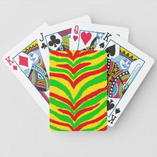 Rasta Animal Stripes Bicycle Playing Cards