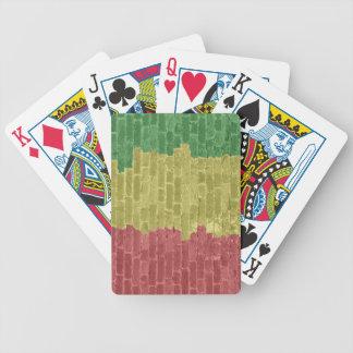 Rasta Brick Bicycle Playing Cards