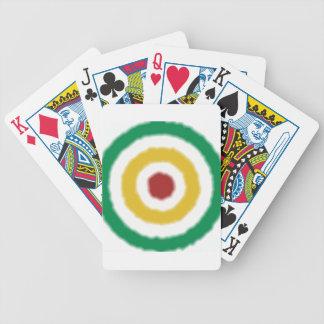 Rasta Bullseye Bicycle Playing Cards