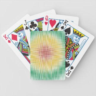 Rasta Bullseye Lines Bicycle Playing Cards