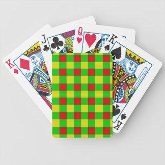 Rasta Check Bicycle Playing Cards