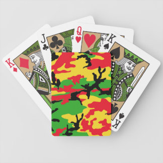 Rasta Colored Camouflage Poker Deck