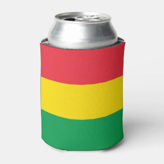 Rasta Colors Green Yellow Red Stripes Flag Pattern Can Cooler