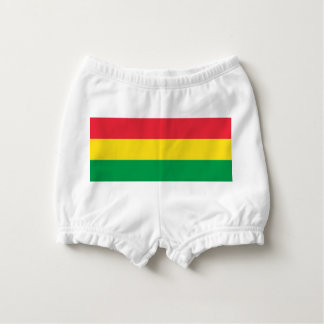 Rasta Colors Green Yellow Red Stripes Flag Pattern Nappy Cover