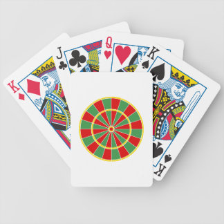 Rasta Dartboard Pattern Poker Deck