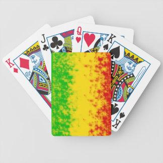 Rasta Design Bicycle Playing Cards