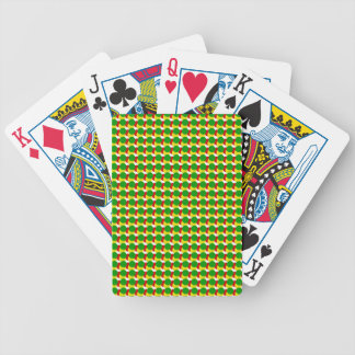 Rasta Dots on White Bicycle Playing Cards