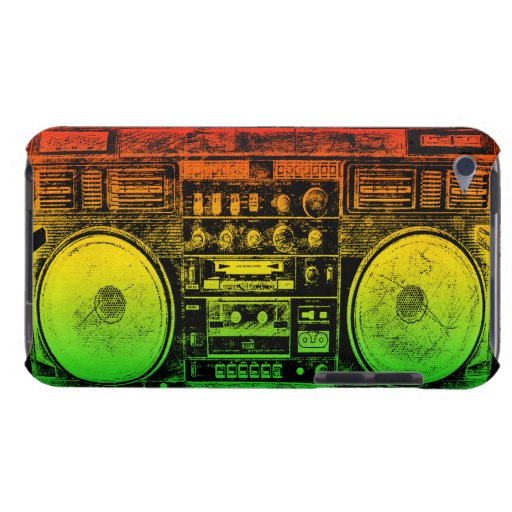 Rasta ghetto blaster iPod touch Case-Mate case
