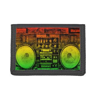 Rasta ghetto blaster trifold wallet