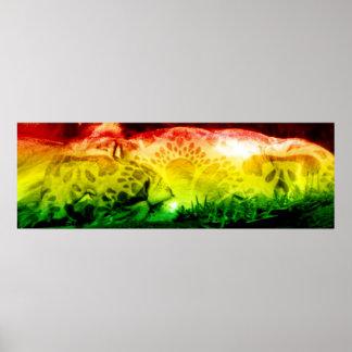 Rasta Lion Poster