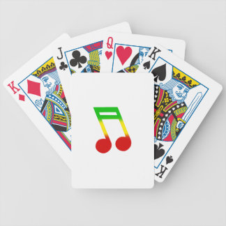 Rasta Music Note Bicycle Playing Cards