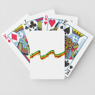 Rasta Music Staff Bicycle Playing Cards