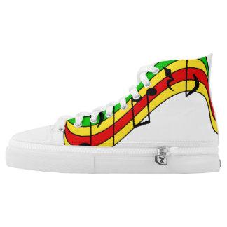 Rasta Notes Printed Shoes