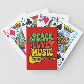 Rasta  Peace-Love-Music Bicycle Playing Cards