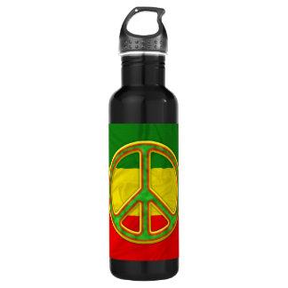 Rasta Peace Symbol 710 Ml Water Bottle