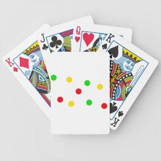 Rasta Polka Dots on White Bicycle Playing Cards