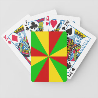 Rasta Rays Bicycle Playing Cards