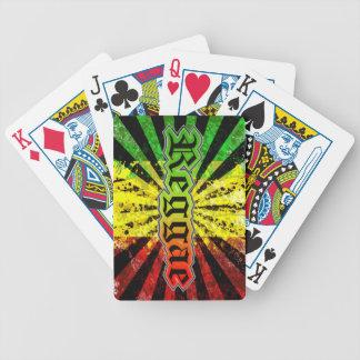 rasta reggae bicycle playing cards