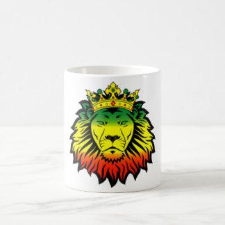 rasta reggae lion flag basic white mug