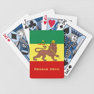 Rasta Reggae Lion of Judah Bicycle Playing Cards