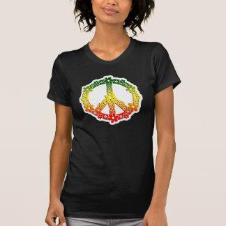 Rasta reggae peace flowers tees