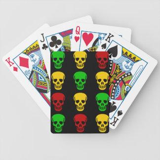 Rasta Skulls Bicycle Playing Cards