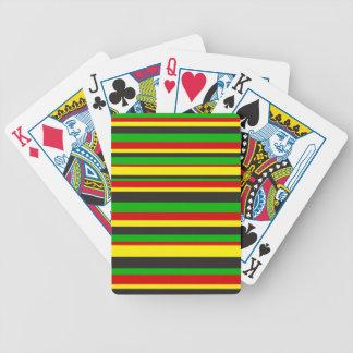 Rasta Stripes Bicycle Playing Cards
